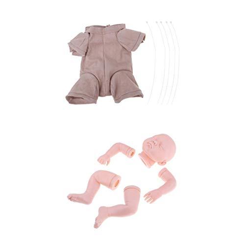 KESOTO Muñeca sin Pintura Reborn Molde Completo Paño de Cuerpo de Bebé Suministros de Bricolaje Decoración - 22 Pulgadas