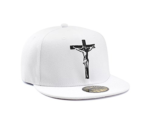 Gesù Cristo Croce Cristiana Bianco Jesus cappello da baseball Snapback di True Heads