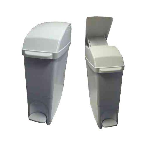 C21 Hygiene C21SANW Pedal Operated Sanitary Bin, 15 L, White White Pedal Bin