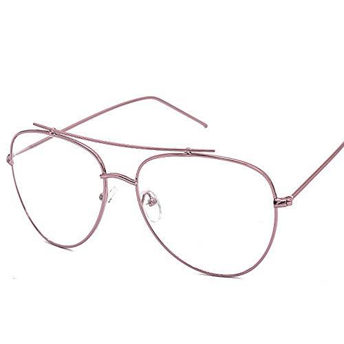Unisex stilvolle Brillen ohne Rezept Brillen klare linse. Brille (Farbe : Rosa)