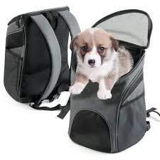 Premiumdog® Hunde Rucksack Hundetasche Atmungsaktiv mit Netzfenster für kleine und mittelgroße Hunde - von Fluggesellschaften zugelassen ! - in 2 Größen erhältlich (S)