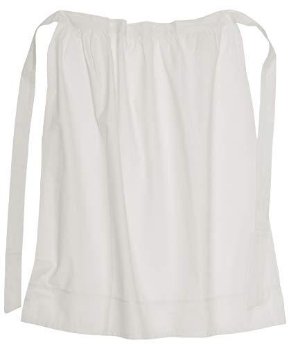Weiße Frau Kostüm - Battle-Merchant Lange Mittelalter Schürze, weiß natur, aus Baumwolle für Mittelalter Wikinger LARP oder Kostüm Damen Frauen onesize