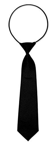 Kinderkrawatte Krawatte Kinder Jungen Gummiband gebunden dehnbar Konfirmation Taufe schwarz