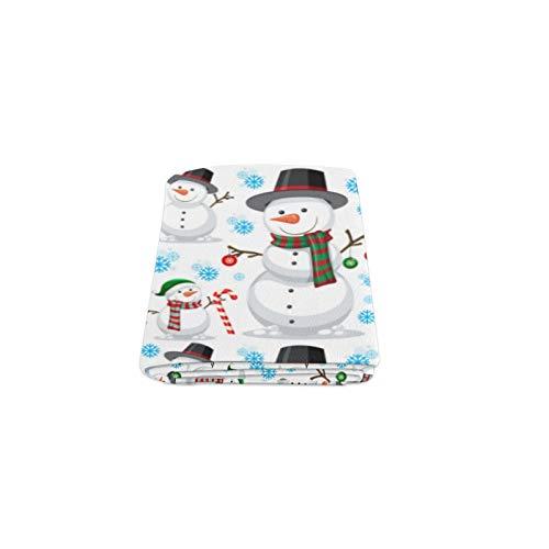 Wietops Muñeco de Nieve Blanco Mascota de Invierno Personalizado de Invierno Ligero...
