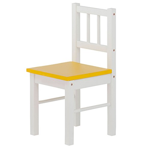 Herlag H4029-001 Kinderstuhl, weiß/gelb