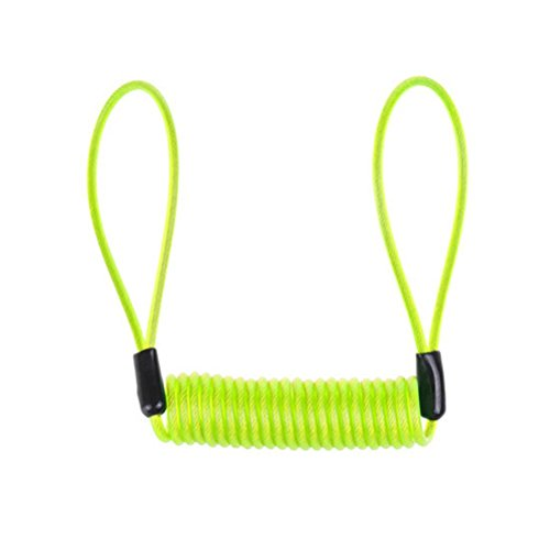 Foopp Cable para candado de moto, 1,2m, color verde claro