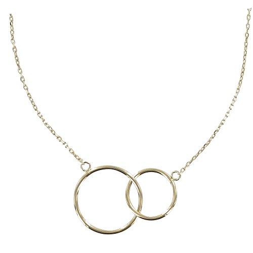 Schmuck Les Poulettes Vergoldet Halskette Zwei Kreisen