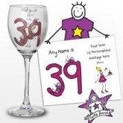 Personalizzato Viola Ronnie età medio femmina vino vetro - Età Vetro