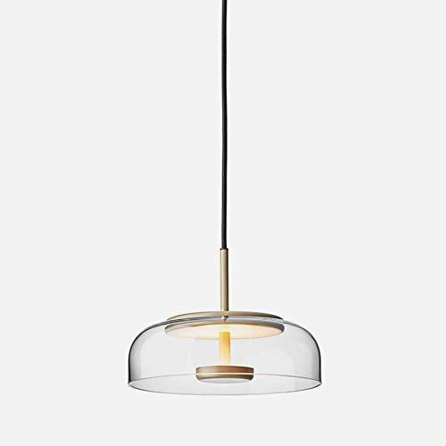 Led * 7w Kronleuchter, moderne einstellbare mundgeblasenes Glas hängende Lampe, Restaurant Schlafzimmer Cafe Bar Anhänger Deckenleuchte, warmes Licht D23 * h15cm -