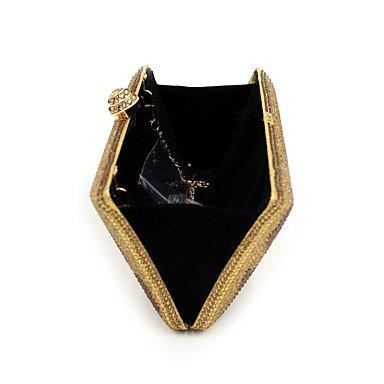 SUNNY KEY-Pochette e Clutch @ Donna Poliestere Formale Casual Serata/evento Matrimonio Ufficio e lavoro Borsa da sera , black gold