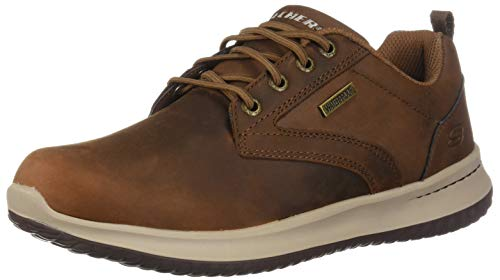 Skechers Men's DELSON-Antigo Oxfords, Brown Brown Cdb, 9.5 UK 44 EU