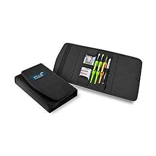 Pica 55010 Markierstift Set für Schreiner, Zimmermannsbleistift - für Holz, Metall, Keramik, Glas, uvm. – mit Tasche