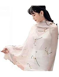 Trend Fabric Foulard En Soie Femme 100% Soie Soie Longue Écharpe En Soie  Châle Écharpe 5cfa660975e