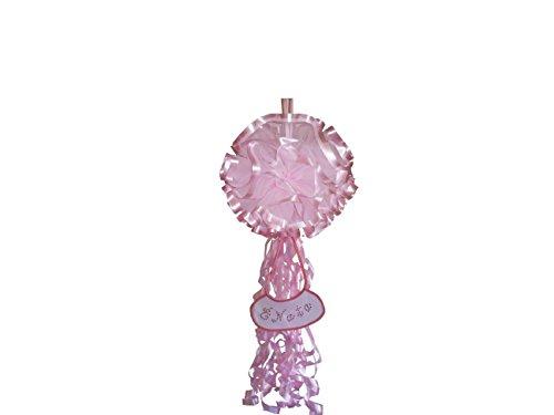 Fiocco nascita coccarda sfera gigante rosa