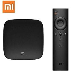 Xiaomi TV Box Mi BOX 3 Android 7.1 4K HDR HDMI WiFi Bluetooth H.265 2 GB di RAM + 8 GB ROM Set-Top Box Telecomando vocale Nero