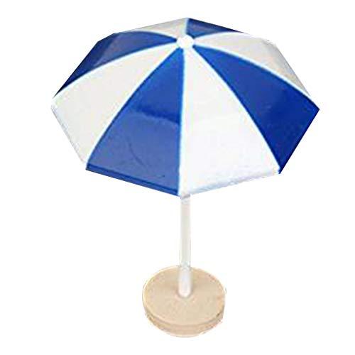 babysbreath17 Miniature Parasol de Plage PVC Décoration Micro Paysage Dollhouse Bonsai Ornements de Cuisson Décor Bleu 4.1 * 5.8cm