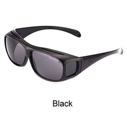 ZHOUYF Sonnenbrille Fahrerbrille Hd Vision Wrap Around Nachtsichtbrille Gelb Autofahrer Brille Männer Frauen Uv400 Schutz Blendschutzbrillen, A
