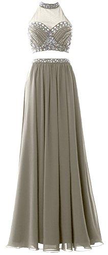 MACloth - Robe - Trapèze - Sans Manche - Femme silver