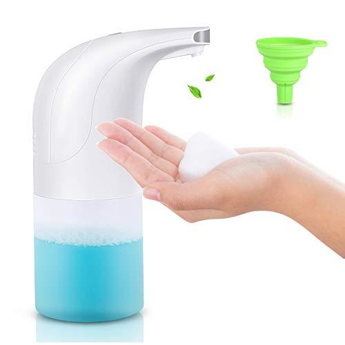 Kosiy Dispensador de jabón automático, 350ML sin Contacto Dispensador de Espuma Dispensador Jabon Cocina Dispensador Jabon Liquido con Sensor Infrarrojo sin Contacto para Cocina o Baño