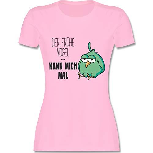 Statement Shirts - Der frühe Vogel kann Mich mal - M - Rosa - L191 - Damen Tshirt und Frauen T-Shirt