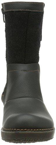 Felt Nc73 femme Boots Noir El Grain Naturalista Black Tricot qtWWRzUO