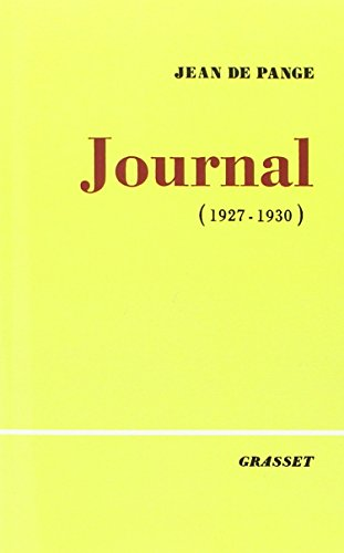 Journal, Tome 1 : 1927-1930 par Pange Pauline