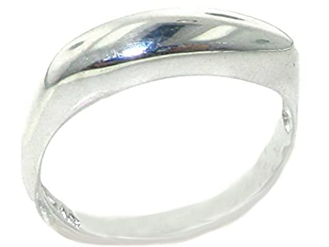 Solid 925 Sterling Silver Modern Contemporary Design Slim Domed Ring