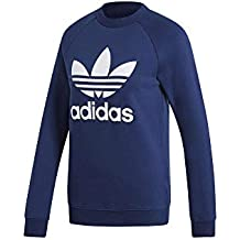 on sale 1a4f9 6711f adidas Trefoil Crewneck, Felpa Donna, Dark Blue, 42
