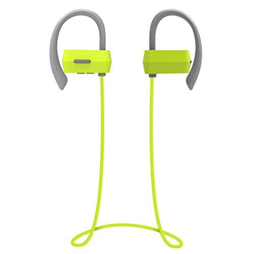 Auriculares Bluetooth 4.1 Deportivos, Inalámbrico Sweatproof Impermeable Stereo headphone in Ear con Micrófono Manos Libre y Cancelación de Ruido, Compatable con Móvil iPhone Android Auriculares de Deporte para Correr Running