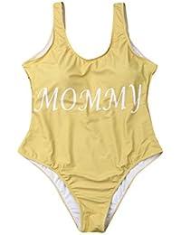 fcc1f295aed1 Amazon.es: letras baño - Amarillo / Ropa de baño / Mujer: Ropa
