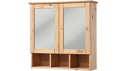 Echtholz Spiegelschrank - Landhaus Sylt, Breite 60 cm geölt