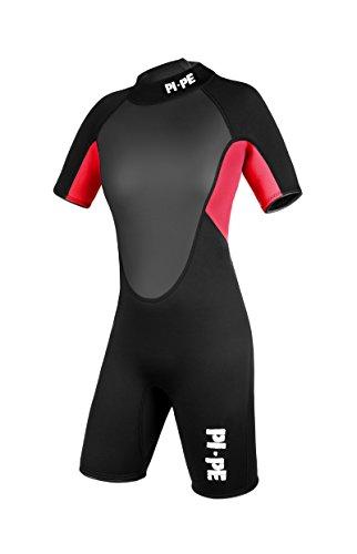 PI-PE Damen Neoprenanzug Pro Spring Short Sleeve, Red, L, PNPR-4-R