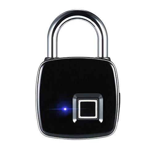 USB Wiederaufladbare Smart Keyless Fingerprint Lock IP65 wasserdichte Anti-Diebstahl-Sicherheit Vorhängeschloss Tür Gepäck Fall Schloss - Breite Körper-sicherheits-schrank