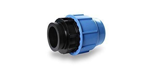 Raccord à vis en polypropylène - Filetage intérieur de 16, 20, 25, 32, 40 mm - 16 bar - Certifié DVGW - Pour connecter les tuyaux en polyéthylène - Arrosage de jardin 16 mm x 3/4\