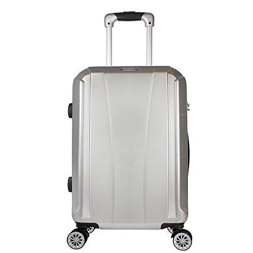 Flight Case Maleta con Maletas para Equipaje de Mano de Cabina de 4 Pulgadas de ABS liviano, de ABS, con cáscara Dura, Construido en Cerradura de combinación de 3 dígitos, aprobada por la TSA.