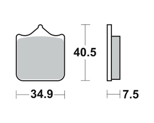 Pastiglie dei freni TRW MCB721SV per KTM 1190 Adventure R,ABS 13- (anteriore)