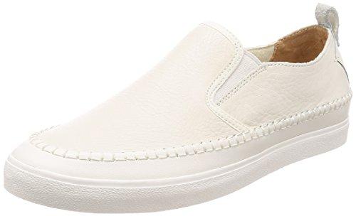 Clarks kessell slip, mocassini uomo, bianco (white leather), 43 eu