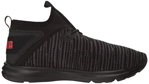 PUMA Men s Enzo Peak Sneaker  Black-Asphalt-High Risk Red  7 5 M US