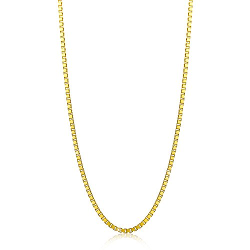 Orovi Damen Veneziakette Halskette 14 Karat (585) GelbGold Venezia kette Goldkette 0.7 mm breit 45cm lange