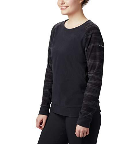 Columbia Lange Ärmel Pullover (Columbia Damen Glacial Crew Hemd, Black Soft Waves Print, Klein)