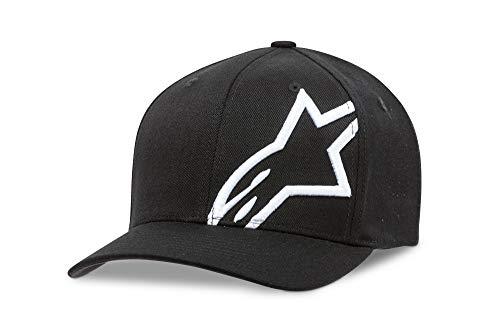 Imagen de alpinestar corp shift 2 flexfit  flexfit visera curva logo bordado 3d, hombre, black/white, s/m