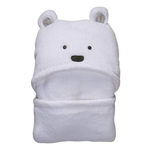 Toalla de baño con capucha y manta, recién nacido bebé para bebés, niños y niñas blanco blanco