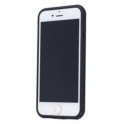 Voguecase® Pour iPhone 7 4,7, [TPU+PC]Coque de protection double couche pour Apple iPhone 7 4,7 [Technologie Air Space Cushion] Absorption des chocs améliorée, Ajustement Parfait Coque Shell Housse Co Modèle de point-Noir
