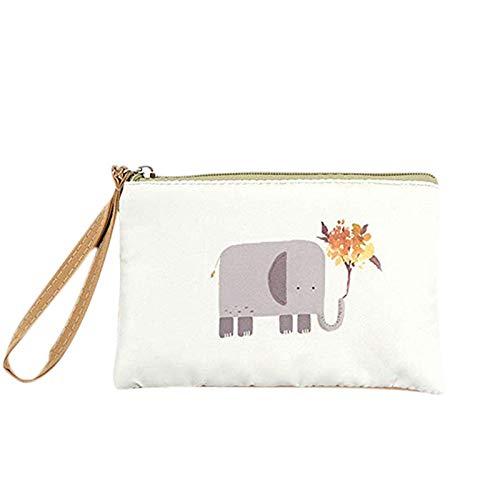 XZANTE para Las Mujeres Pequeño Bolso de Lindo Embrague de Pulsera Bolso Monedero Bolsa de Teléfono Móvil Elefante bebé 5#