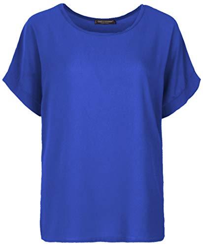 Emma & Giovanni - T-Shirt/Oberteile Kurzarm Segelstoffe - Damen (Elektrisches Blau, M/L) -