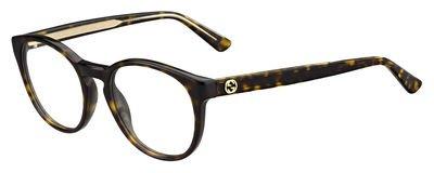 Gucci - GG 3847, Rechteckig, Acetat, Damenbrillen, DARK HAVANA(KCL), 50/19/140