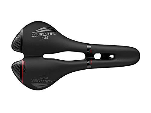 Selle Italia ASPIDE Carbon FX Wide +Open sillin, Deportes al Aire Libre, Ciclismo,componentes de Bicicleta, Negro