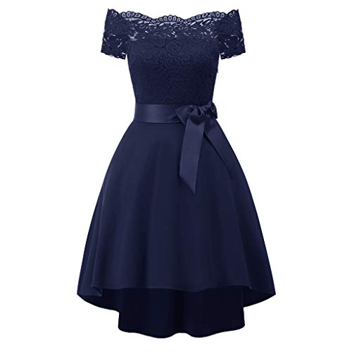 itze Chiffon Kleid Abend Party Cocktail Brautjungfernkleid Ballkleid ()