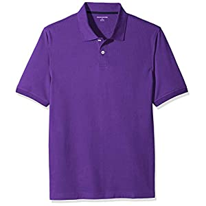 Amazon Essentials Herren Poloshirt, Violett (Purple), Small