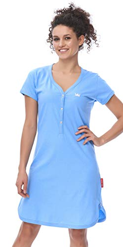 Blue Damen-nachthemd (DN, Nachthemd, TCB.9505, spa.Blue, Gr. M)
